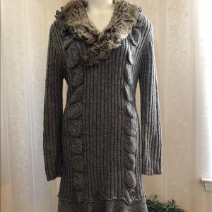 Milano Fur Sweater Dress